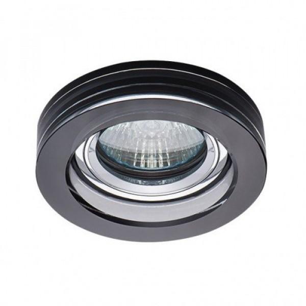Beépíthető spot lámpatest , MORTA B , CT-DSO50, kerek keret , fekete , üveg