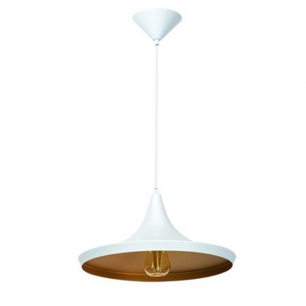 LED lámpa függeszték , AVINI , E27 , fehér-arany