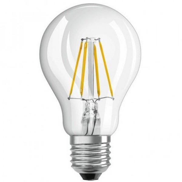 LED lámpa , égő , körte , izzószálas hatás , keresztirányú , E27 foglalat , 4 Watt , meleg fehér , vintage