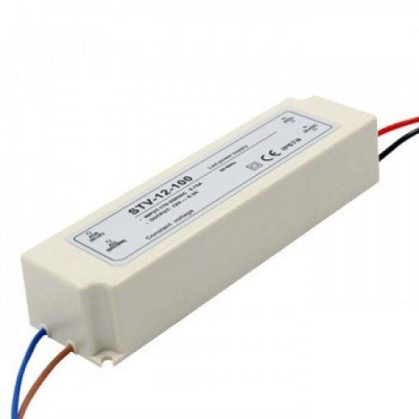 LED tápegység , 12 Volt , 100 Watt , 8,5A , kültéri , vízálló , IP67 , Platinum