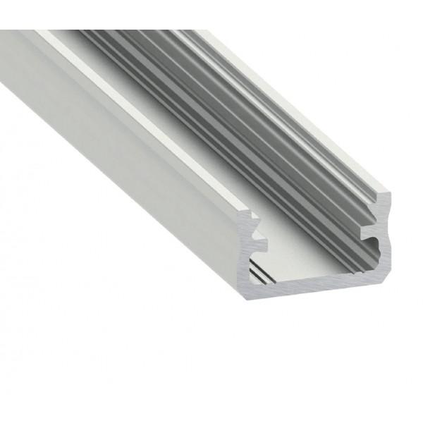 Alumínium U profil LED szalaghoz , 1 méter/db , MATT fedővel , CLICK