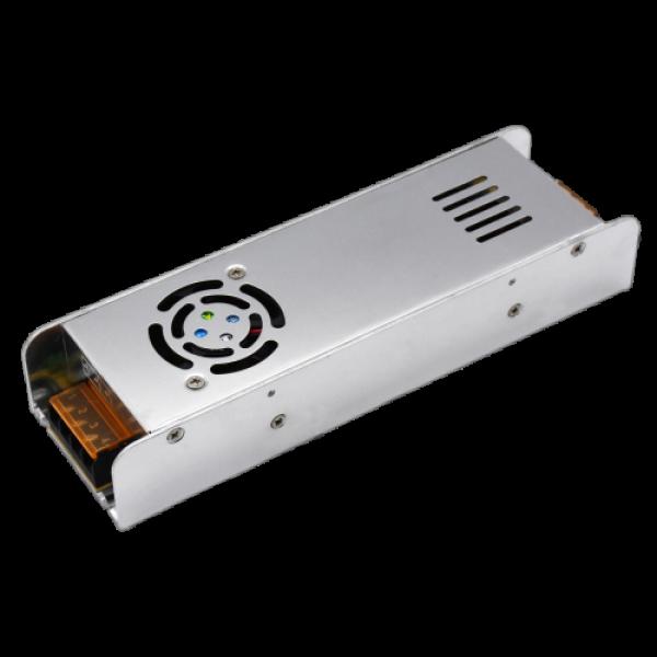 LED tápegység , 12 Volt , 360 Watt , 30A , ipari, Slim , ventilátoros