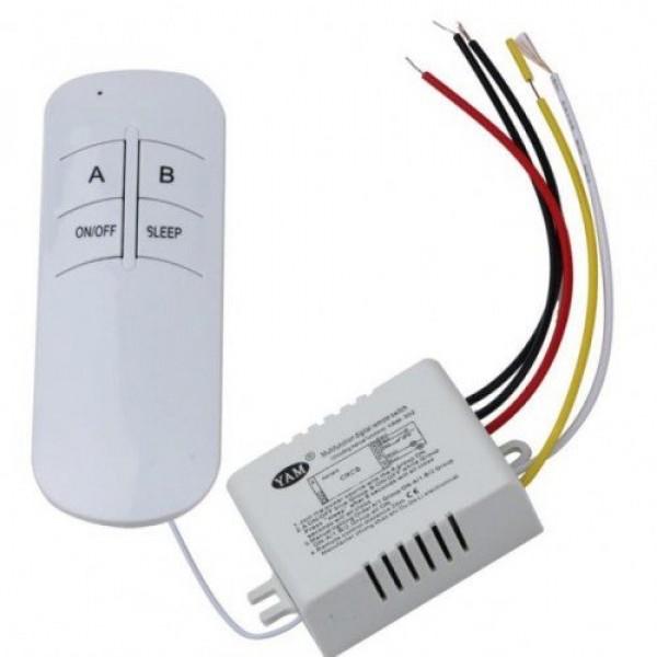 Digitális rádiófrekvenciás távirányító , 220V , 2 UTAS ON/OFF