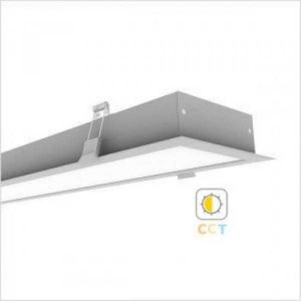 CCT LED lámpatest , lineáris , Mi-Light , 120 cm , 6332 ,  40W , 24V DC, dimmelhető , süllyeszthető , állítható fehér színárnyalat , SMART
