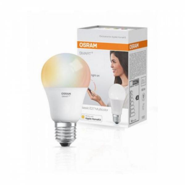 LED lámpa , égő , OSRAM Smart+ , E27 , 10W , RGB , CCT , dimmelhető , iOS Apple HomeKit kompatibilis