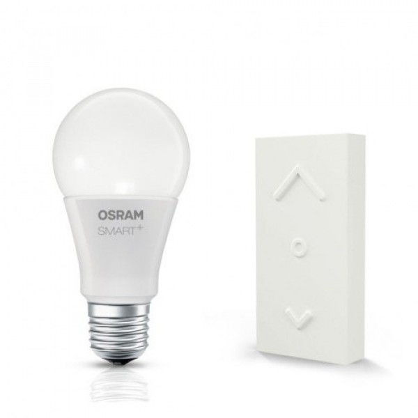 LED lámpa , égő , OSRAM Smart+ , Mini KIT (E27 10W + Switch Mini dimmer) , RGB , CCT , dimmelhető