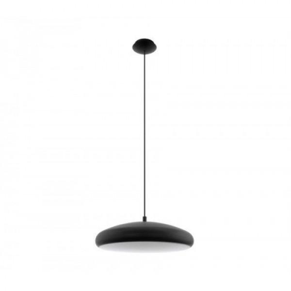 LED lámpatest , függeszték , mennyezeti , 27W ,  dimmelhető , RGB , CCT , fekete , EGLO , RIODEVA-C , 96997