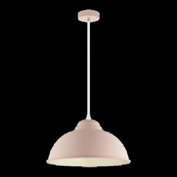LED lámpa függeszték , mennyezeti , E27 , pasztell barackszín , EGLO , TRURO 1 , 49058