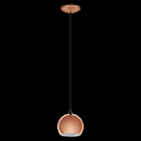 LED lámpa függeszték , mennyezeti , E27 , vörösréz , vintage , EGLO , PETTO , 95838