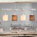 LED lámpa függeszték , mennyezeti , 4 x E27 , fa , textil , fehér , barna , EGLO , TOWNSHEND 2 , 49927