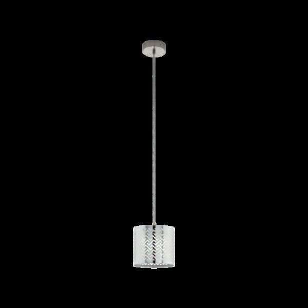 LED lámpa függeszték , mennyezeti , E27 , matt nikkel , króm , EGLO , LEAMINGTON 1 , 49164
