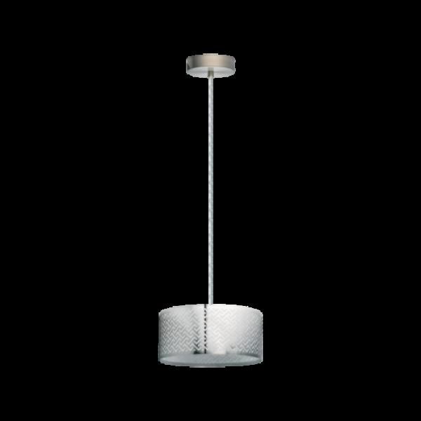 LED lámpa függeszték , mennyezeti , E27 , matt nikkel , króm , EGLO , LEAMINGTON 1 , 49162