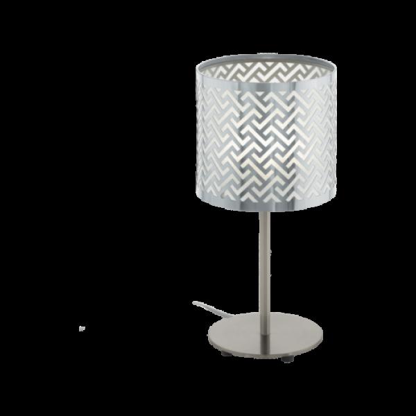 LED lámpa , asztali , E27 , matt nikkel , króm , EGLO , LEAMINGTON 1 , 49167