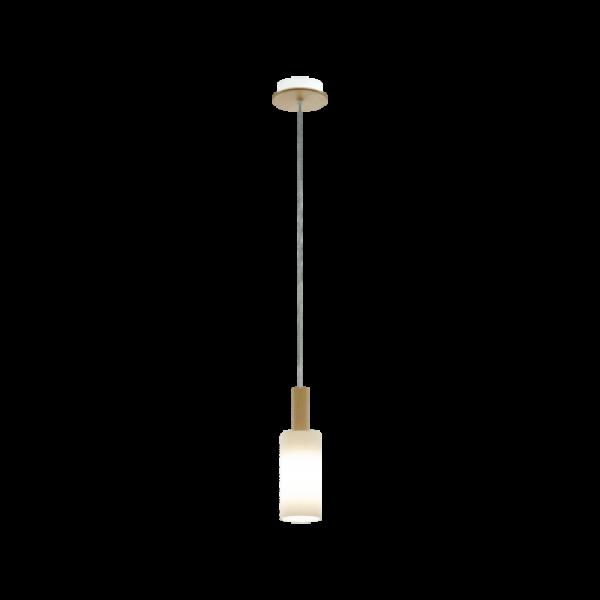LED lámpa függeszték , mennyezeti , E27 , fa , szatinált üveg , fehér , EGLO , OAKHAM , 49758
