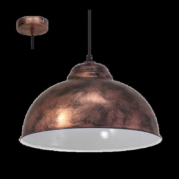 LED lámpa függeszték , mennyezeti , E27 , acél , antik-vörösréz , EGLO , TRURO 2 , 49248