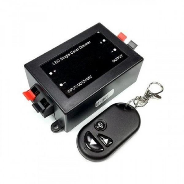Távirányító , dimmer és vezérlő egy csomagban , kulcstartós , egyszínű LED szalaghoz