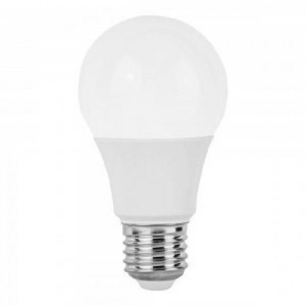 LED lámpa , égő , 24V , körte , E27 foglalat , 9 Watt , természetes fehér