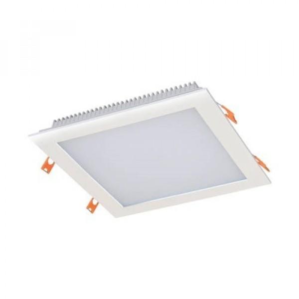 LED panel , mélysugárzó , 24W , süllyesztett , négyzet , természetes fehér , IP44 , CAPRI