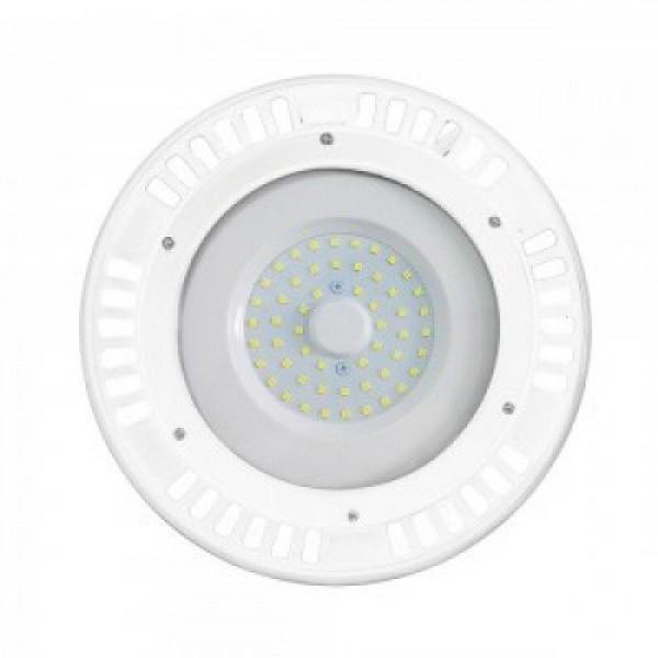 Csarnok világító LED lámpatest  , UFO , 50 Watt , fehér keret , természetes fehér , A++