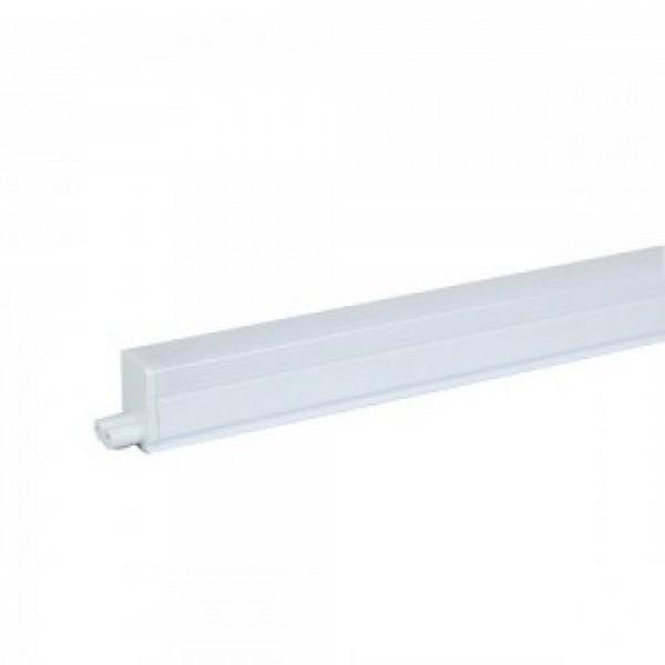 LED fénycső , T5 , 7W , 60 cm , sorolható , kapcsolóval , kompakt armatúrával együtt , Samsung Chip , hideg fehér , 5 év garancia