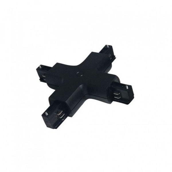 Track light sín adapter , 3 fázisú , 4 pólusú , X típus , fekete