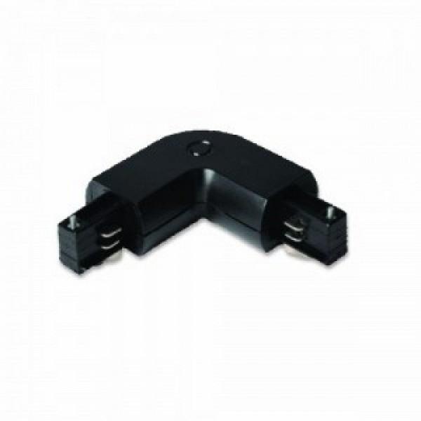 Track light sín adapter , 3 fázisú , 4 pólusú , L típus , fekete