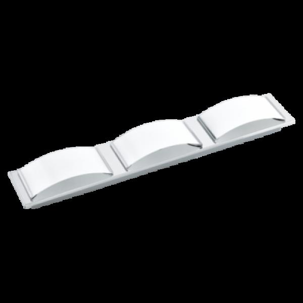 LED lámpatest , mennyezeti/fali , 16.2 Watt , meleg fehér , króm , IP44 , EGLO , WASAO 1 , 94883