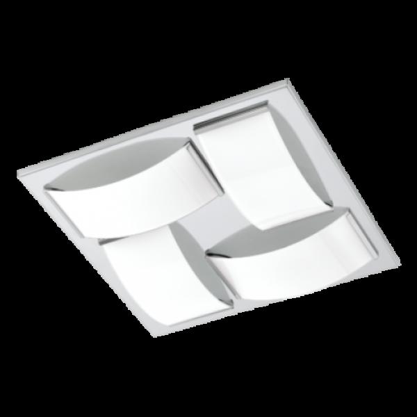 LED lámpatest , mennyezeti/fali , 21.6 Watt , meleg fehér , króm , IP44 , EGLO , WASAO 1 , 94884
