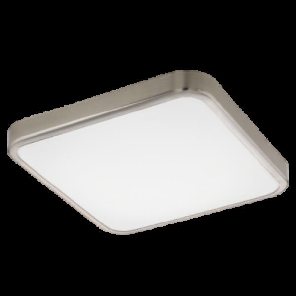 LED lámpatest , mennyezeti/fali , 16 Watt , meleg fehér , matt nikkel , IP44 , EGLO , MANILVA 1 , 96231