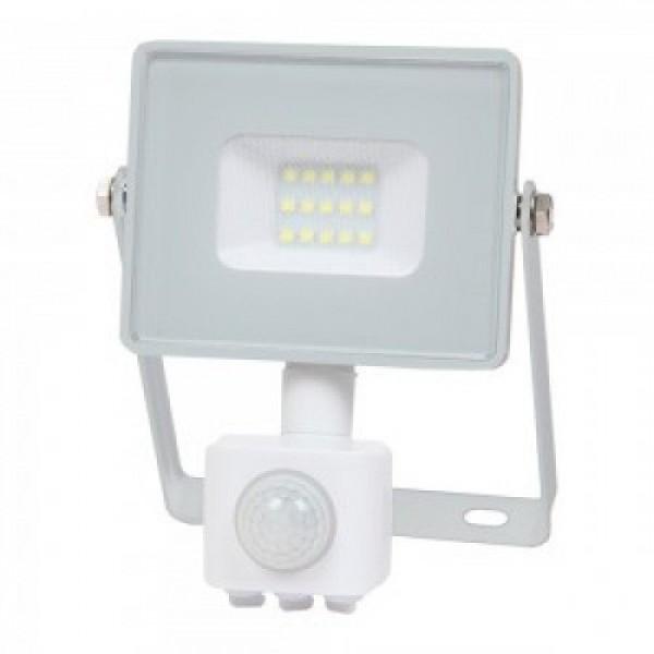 LED reflektor , 30 Watt , mozgásérzékelős , természetes fehér , SAMSUNG chip , 5 év garancia , IP65 , fehér