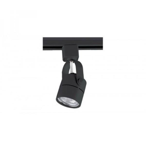 Sínes LED lámpa , track light , 1 fázisú , 2 pólusú , GU10 , 6.5 Watt , 40° , természetes fehér , fekete , Elmark