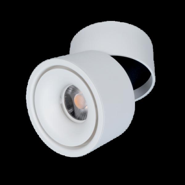 LED fényvető , mennyezetre szerelhető , 10 Watt , billenthető , 24° , természetes fehér , fehér , Elmark
