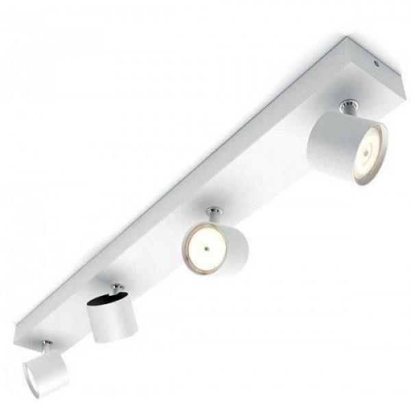 LED lámpatest , mennyezeti , fali , spot , 4 x 4.5W ,meleg fehér , 2200-2700K , dimmelhető , fehér