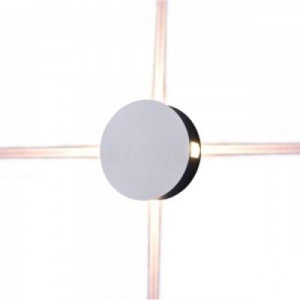 LED lámpatest , oldalfali , kerek , 4 irányú , 4W , meleg fehér , fehér , kültéri , IP65