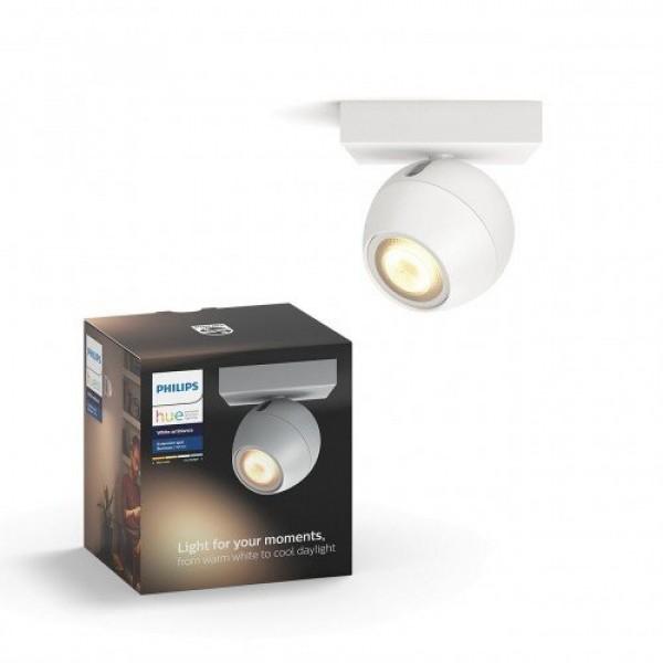 Led lámpatest , Philips Hue , Buckram , mennyezeti , spot , 1 x 5.5W GU10 , CCT , dimmelhető , fehér