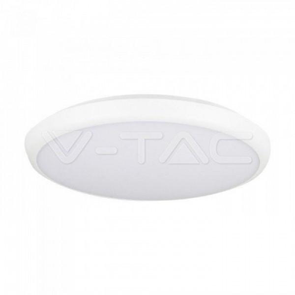 LED panel , 12W , falon kívüli , kerek , természetes fehér , mozgásérzékelős , fényérzékelős , IP65 , V-TAC SKU 821