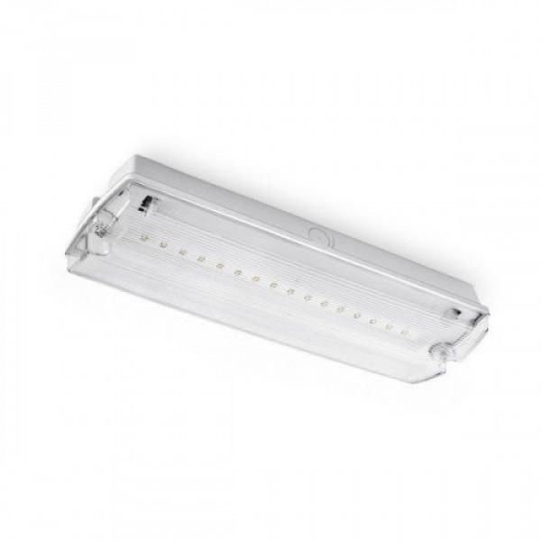 Vészvilágítás , LED lámpa , oldalfali , mennyezeti , falonkívüli , 4 Watt , 3 óra , IP65