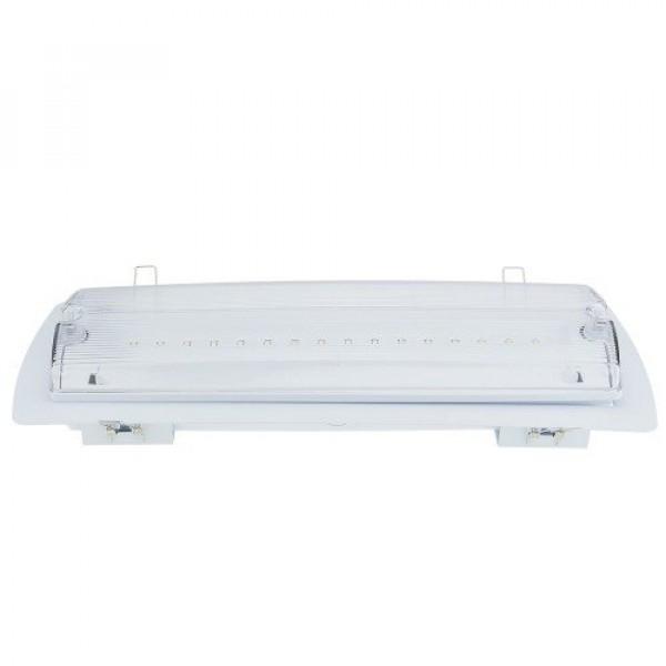 Vészvilágítás , LED lámpa , oldalfali , mennyezeti , süllyeszthető , 4 Watt , 3 óra , IP65