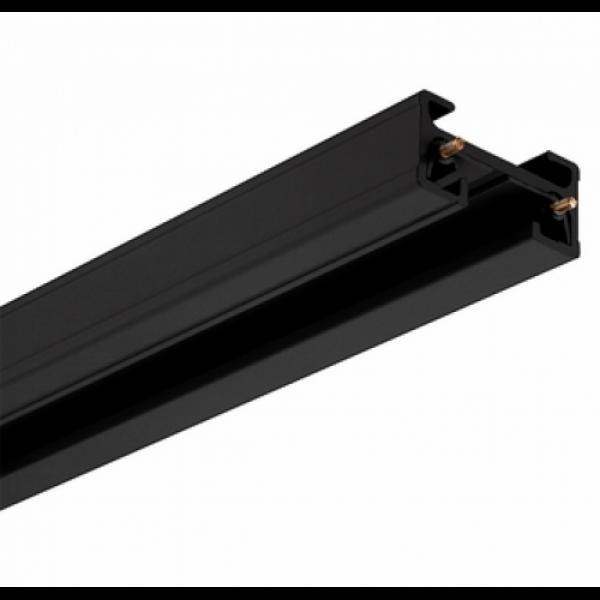 Track light sín , 1 fázisú , 2 pólusú , erősített kivitel , 1 méter , fekete