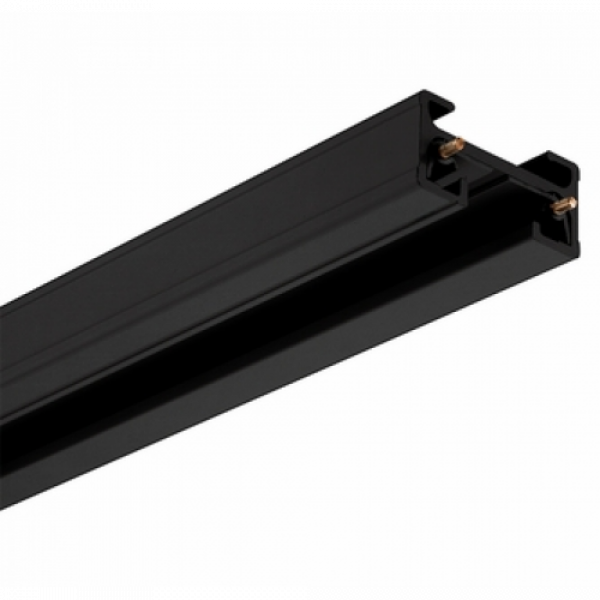Track light sín , 1 fázisú , 2 pólusú , erősített kivitel , 2 méter , fekete