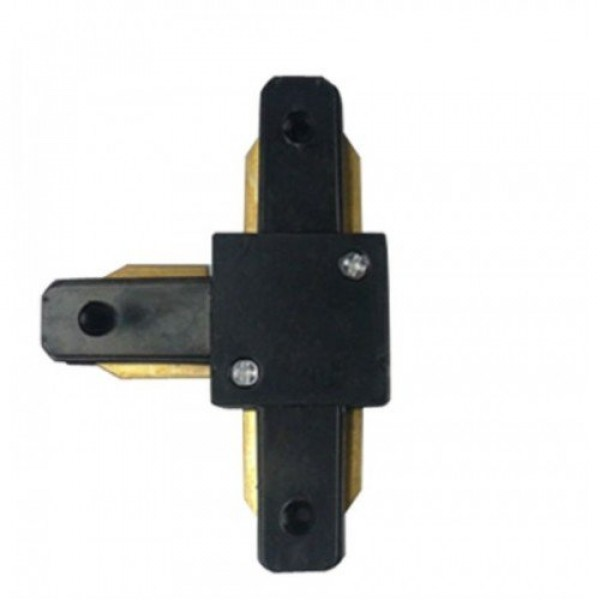 Track light sín adapter , 1 fázisú , 2 pólusú , erősített kivitel , T típus , fekete