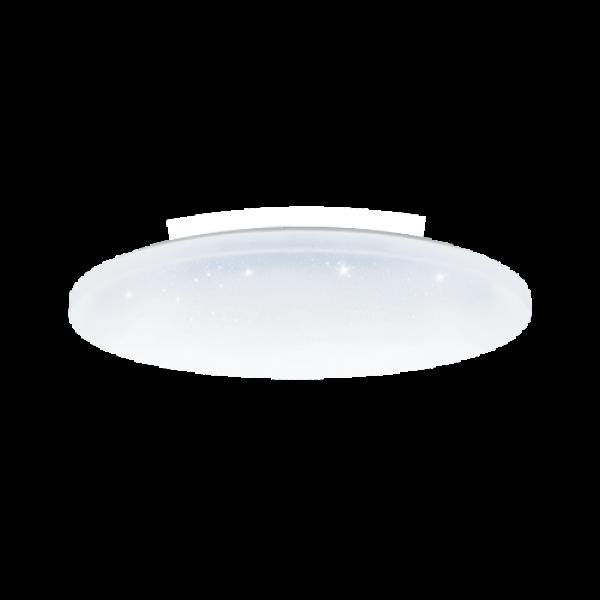 LED lámpatest , 36W , falon kívüli , 48 cm , kerek , UFO , kristály hatású , CCT , 3 színhőmérséklet , 3in1