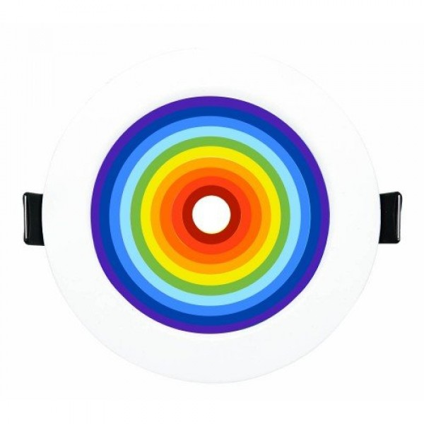 RGB-CCT LED panel , 9W , süllyesztett , kerek , dimmelhető , színes , állítható fehér színárnyalat , SMART