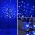 LED dekoráció , beltéri/kültéri , cseresznyevirág , 1.8 m , 200 db led , fehér-kék , IP44