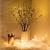 LED dekoráció , beltéri , 3 db faág , 3 x 20 db led , meleg fehér , elemes