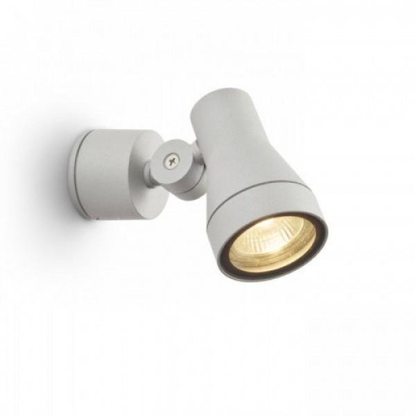 LED lámpatest , spot ,  GU10 , oldalfali , ezüstszürke , kültéri , IP54 , RENDL , DIREZZA