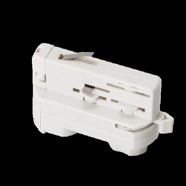 Track light sín adapter függesztékek csatlakoztatására , 3 fázisú , 4 pólusú , fehér , ELMARK