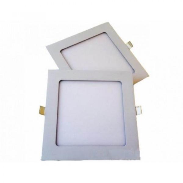 LED panel , 12W , süllyesztett , négyzet , hideg fehér , LM