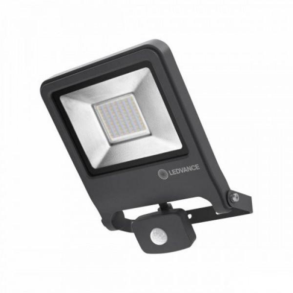 LED reflektor , 50 Watt , mozgásérzékelős , meleg fehér , IP44 , sötét szürke , LEDVANCE