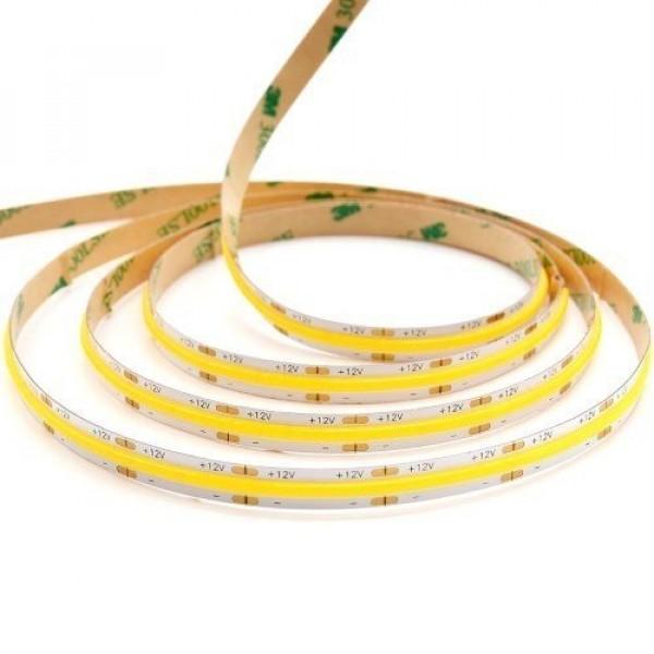 LED szalag , 12 Volt DC , COB , 384 LED/m , DOTLESS , 10 W/m , hideg fehér